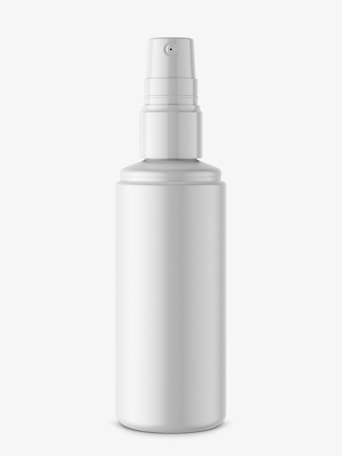 Bottle with atomizer mockup / matte