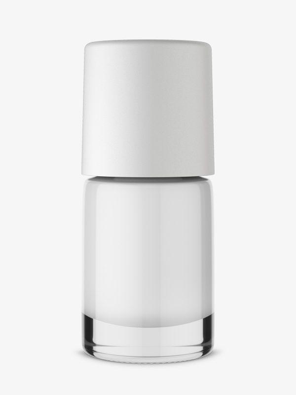 Nail polish mockup with solid color