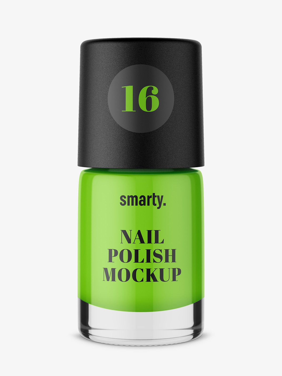 Nail polish mockup with solid color