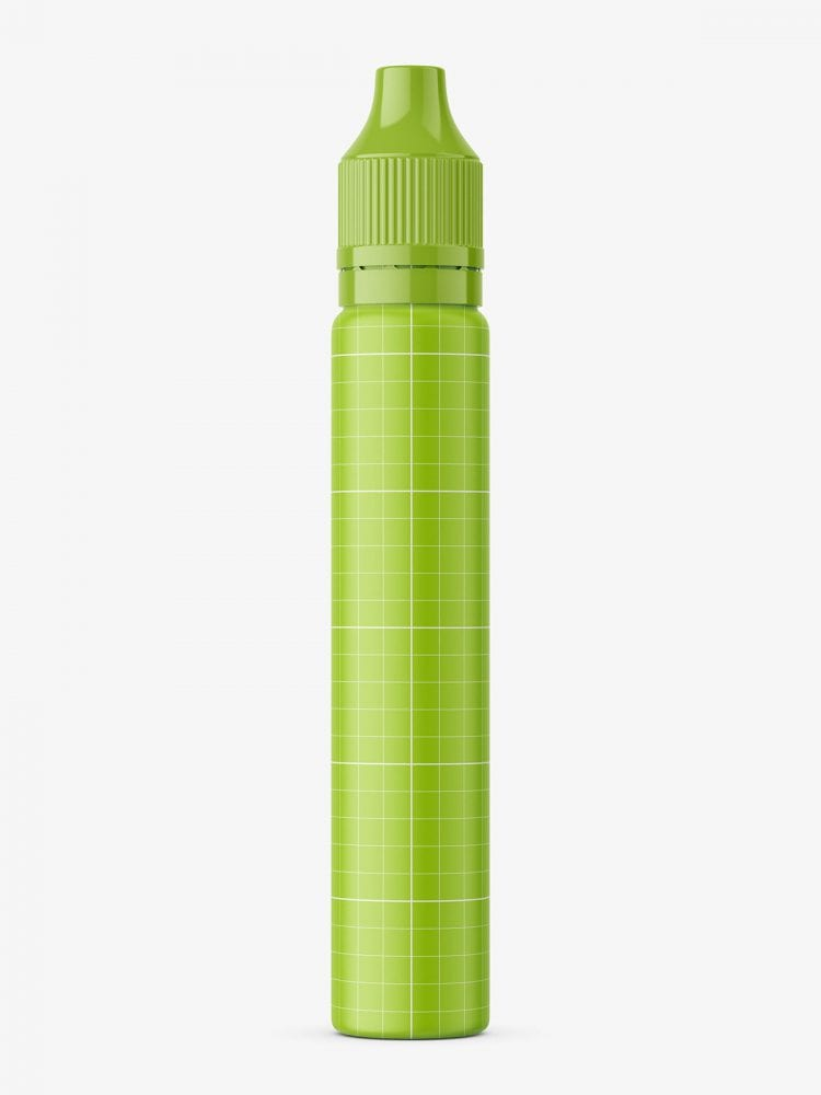Pen shape bottle mockup / matte