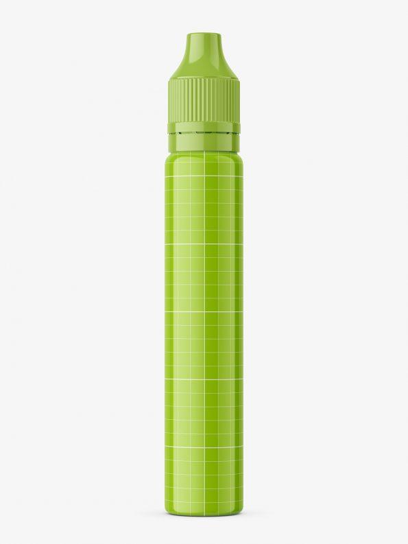 Pen shape bottle mockup / glossy