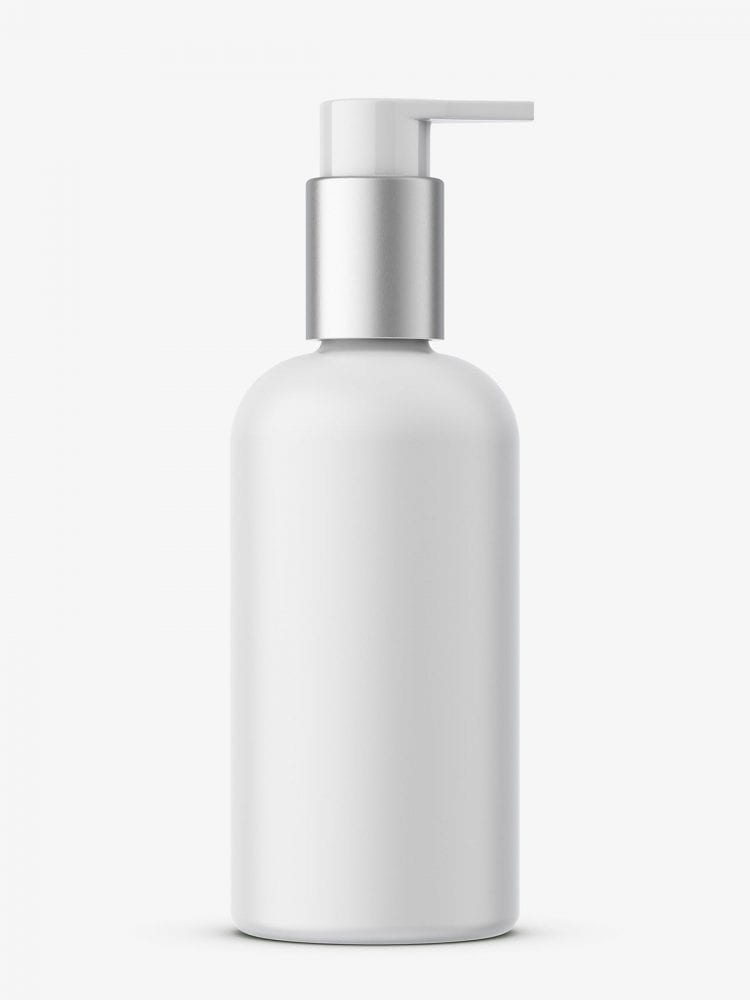 Bottle with elegant pump mockup / matte