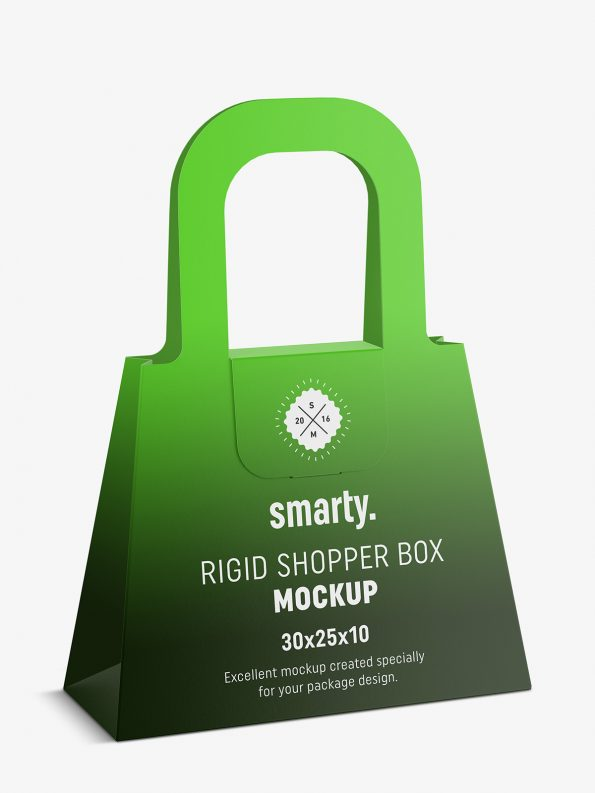 Rigid shopper box mockup