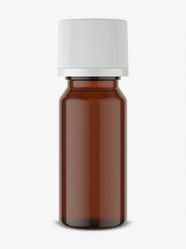 Small aroma bottle mockup / amber