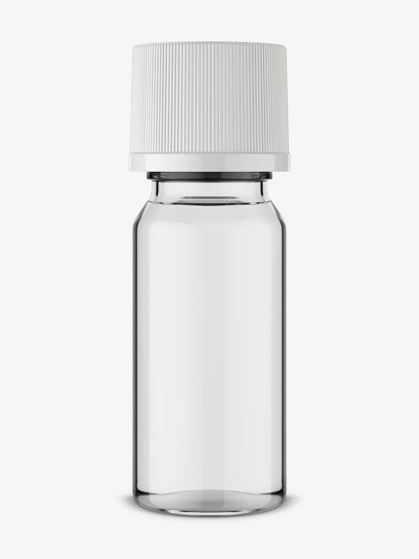 Small aroma bottle mockup / transparent