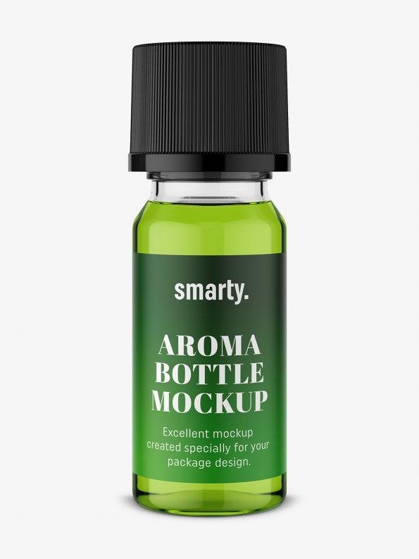 Small aroma bottle mockup / transparent