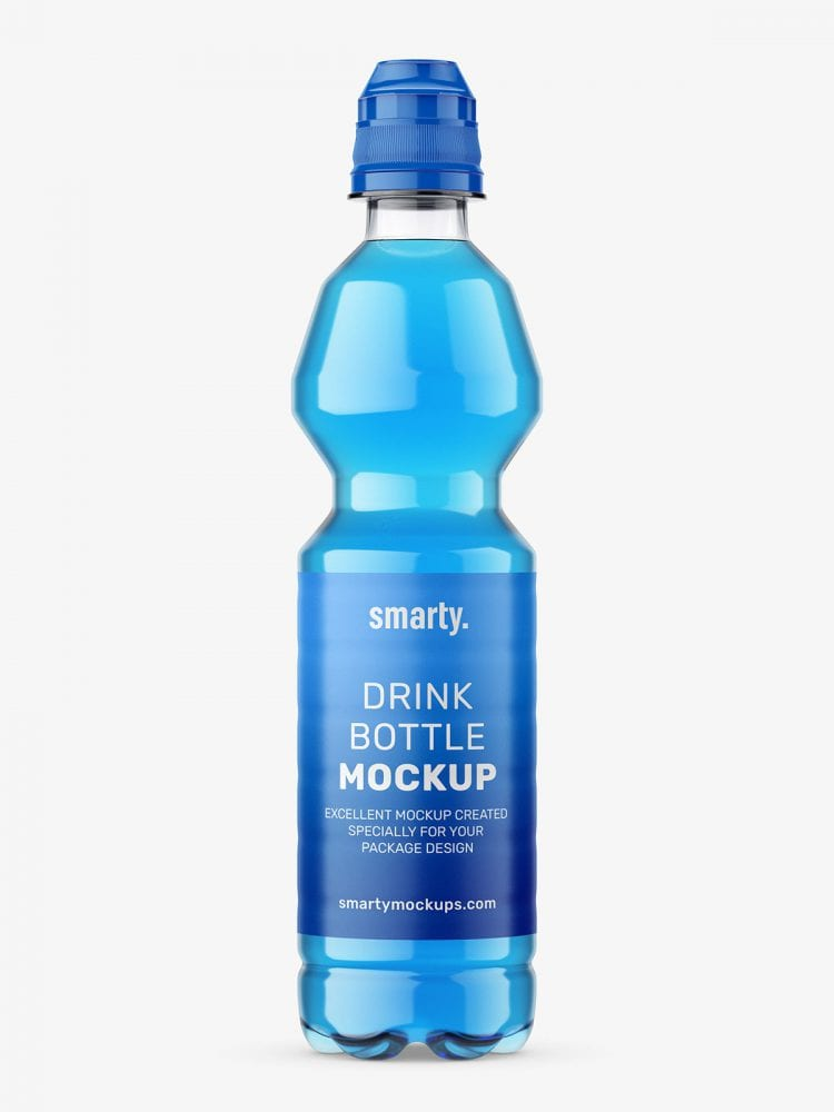 Isotonic bottle mockup