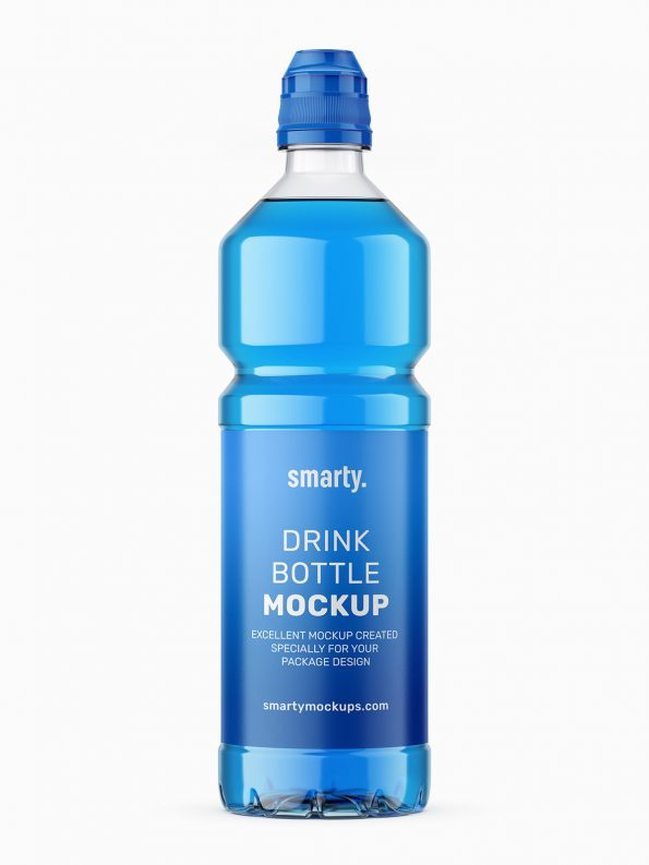 Isotonic bottle mockup