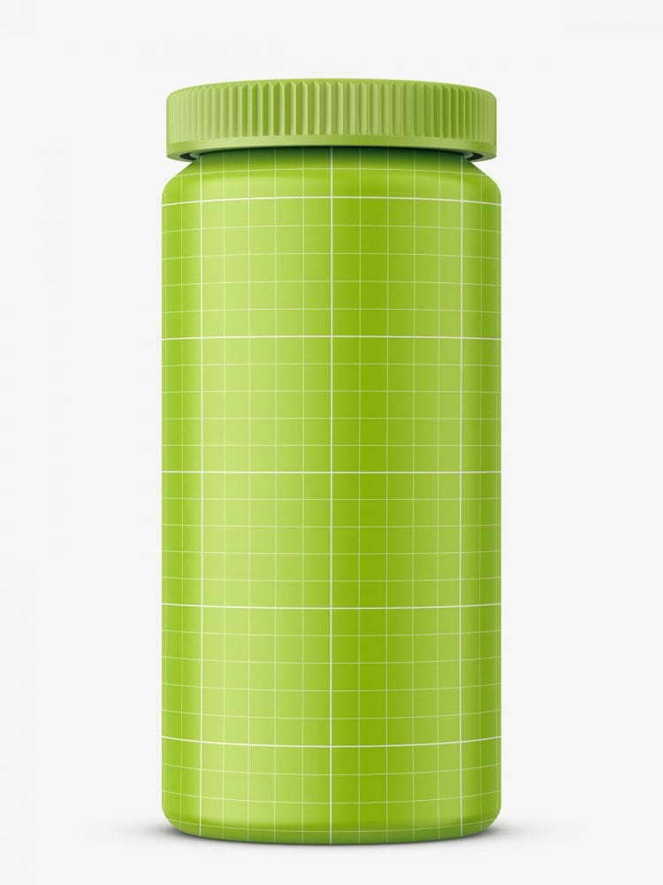 Plastic matt jar mockup