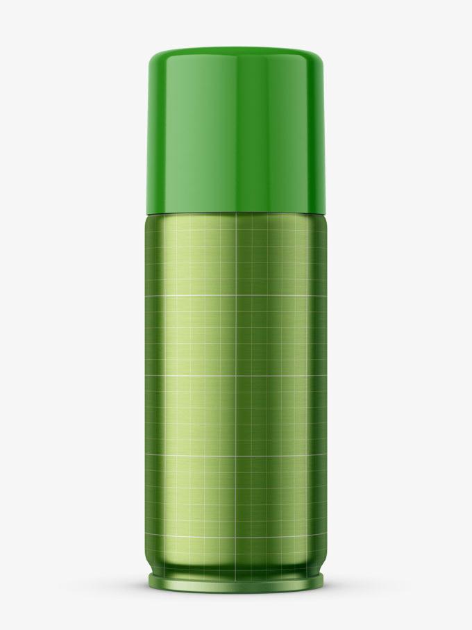 Metallic spray mockup