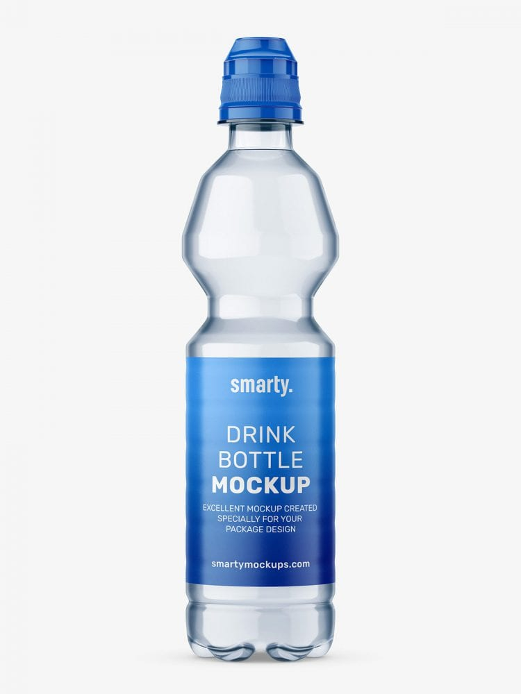 Plastic mineral water bottle mockup