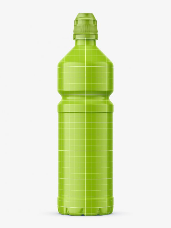 Plastic mineral water bottle mockup
