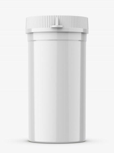 Tiny plastic jar / glossy
