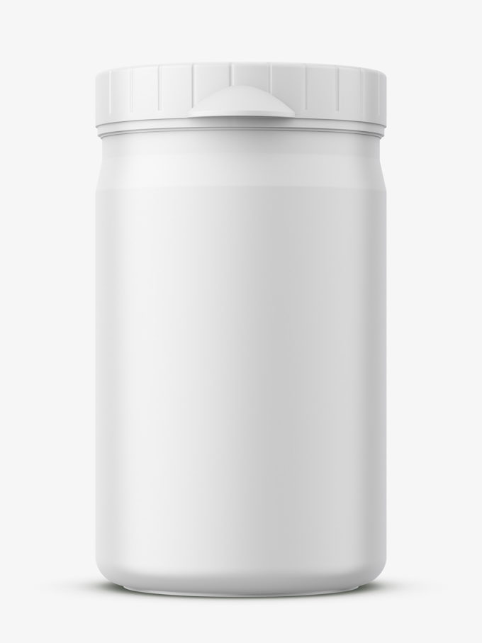 Small plastic jar mockup / matt