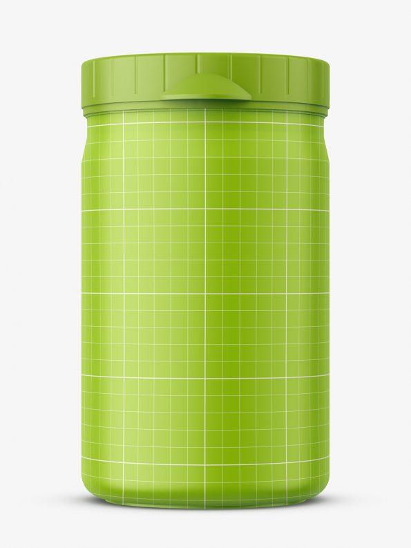 Small plastic jar mockup / matt