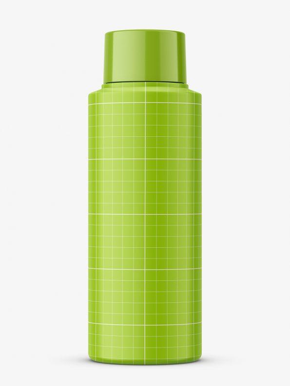 Small plastic matt bottle mockup