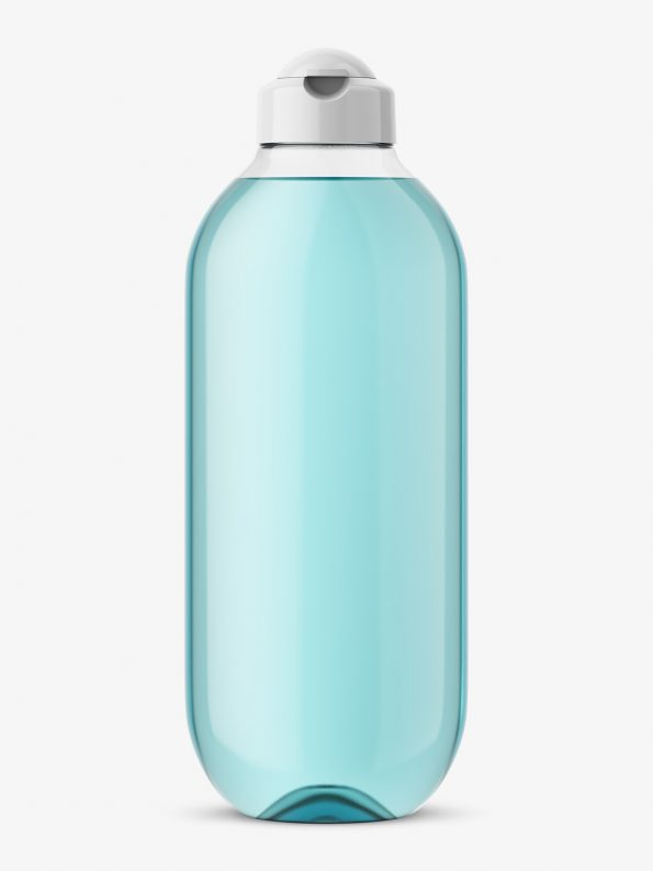 Transparent cosmetic bottle mockup