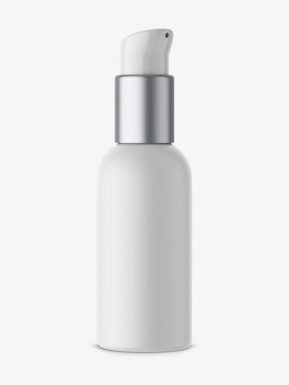 Matt plastic airless bottle mockup