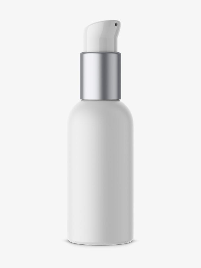 Matt plastic airless bottle mockup
