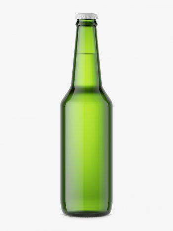 Beer bottle mockup