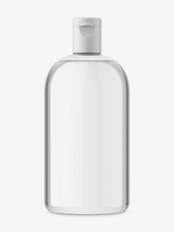 Boston bottle mockup / transparent