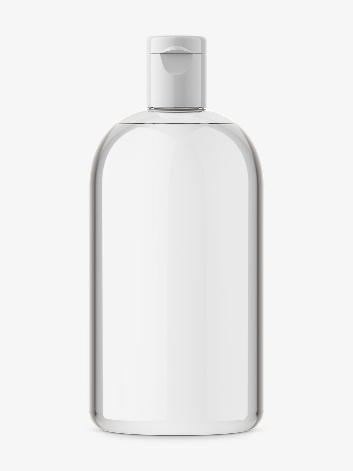Boston bottle mockup / transparent