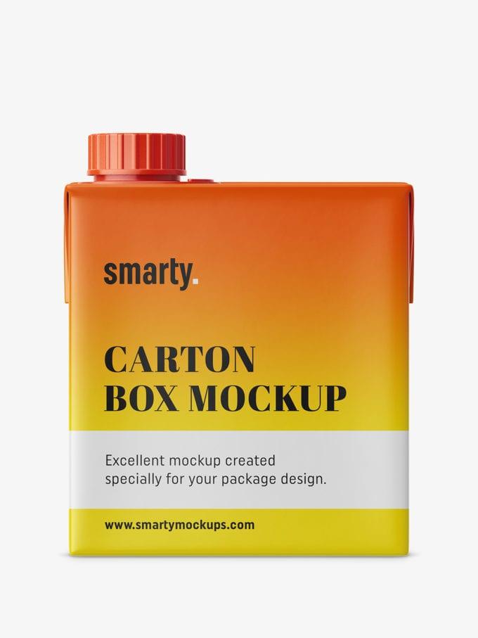 Small carton box mockup