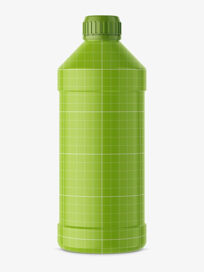 Universal household bottle mockup / glossy