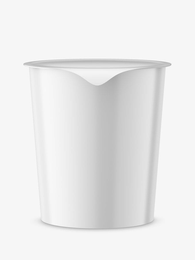 Instant food cup mockup / glossy