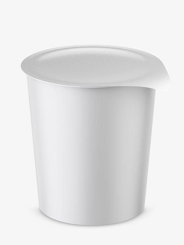 Instant food cup mockup / matt / top view