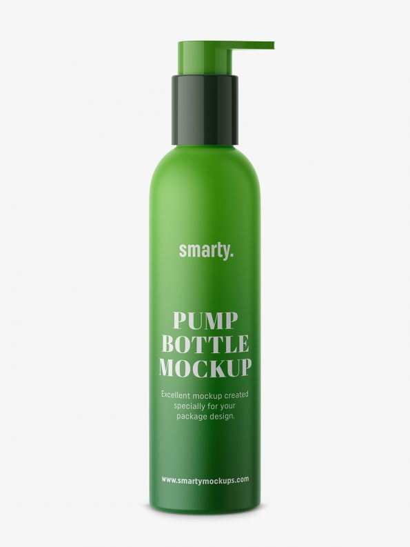 Matt bottle with pump mockup