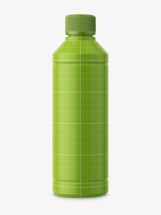Universal household bottle mockup / matt