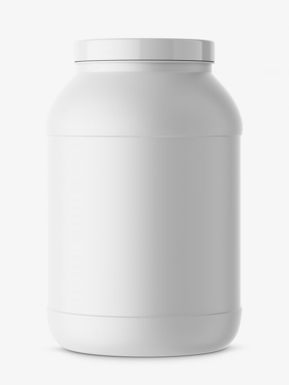 Big matt nutrition jar mockup