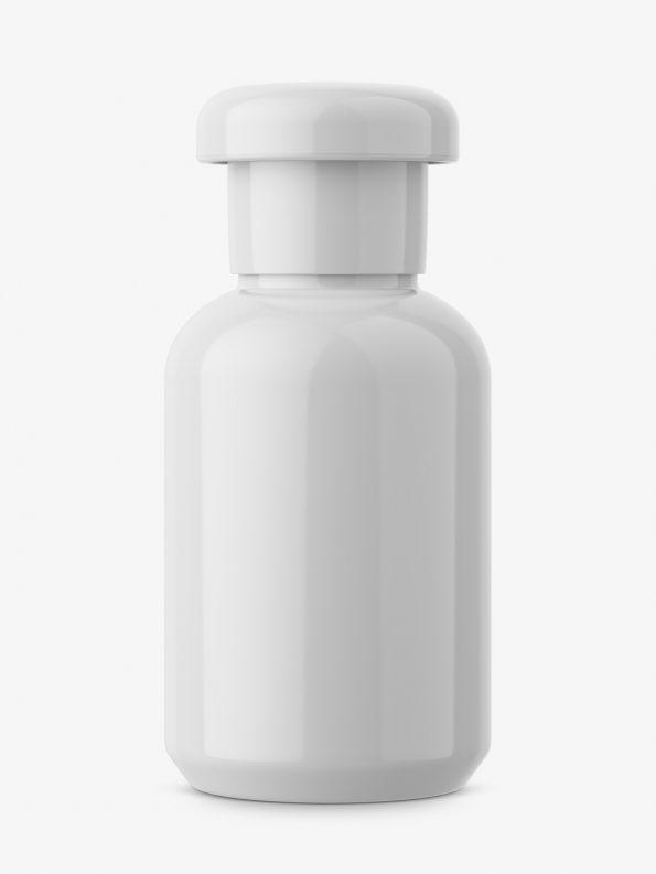 Universal glossy bottle mockup