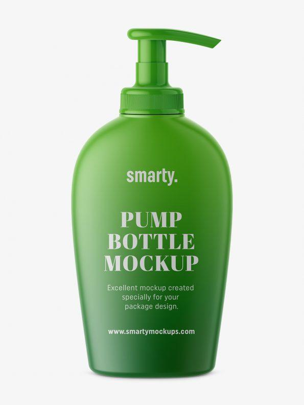 Bottle with pump mockup / mattBottle with pump mockup / matt