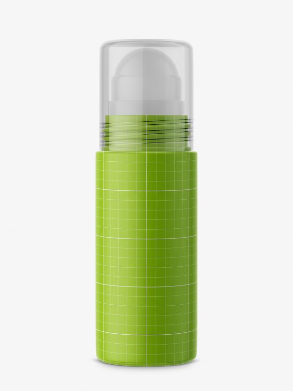 Matt roll-on bottle mockup