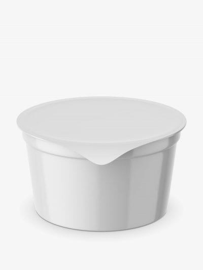 Dairy container mockup