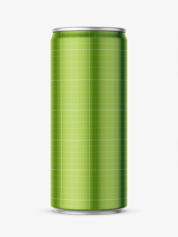 Metallic energy drink mockup