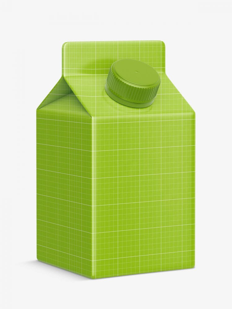 Small juice carton mockup
