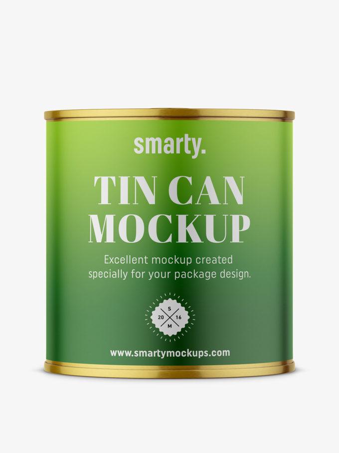 Tin food can mockup