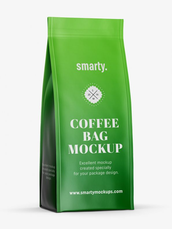 Matt coffee bag mockup