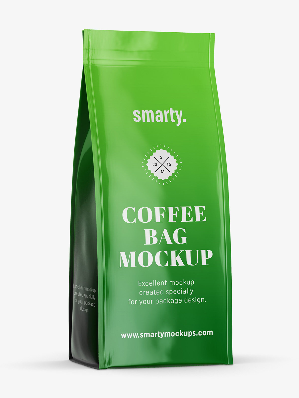 Download Glossy coffee bag mockup - Smarty Mockups