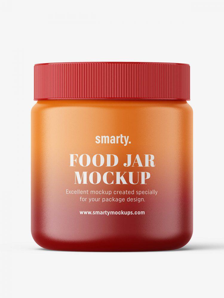 Matt food jar mockup
