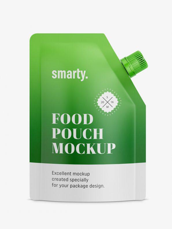 Matt food pouch mockup