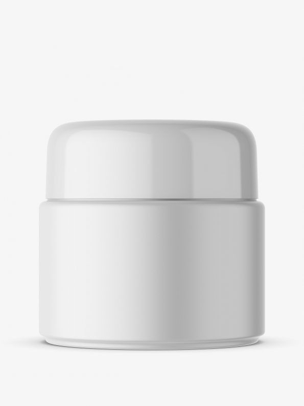 Matt cosmetic jar mockup