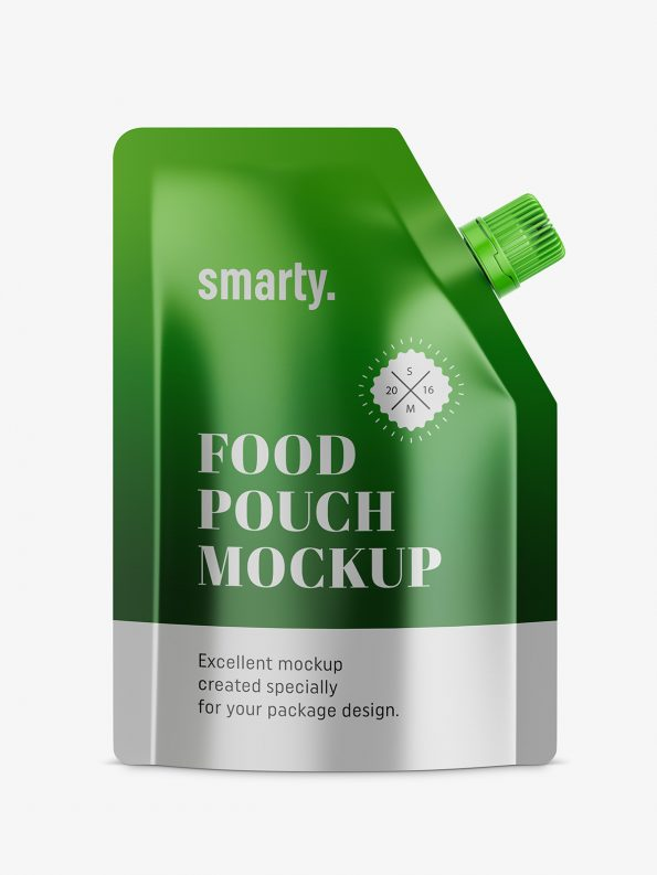 Metallic food pouch mockup