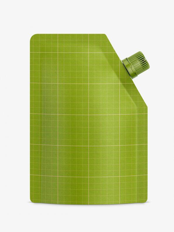 Kraft paper food pouch mockup