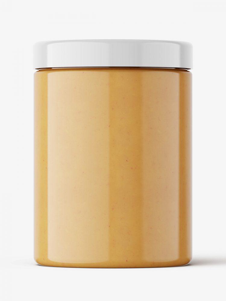 Peanut butter mockup