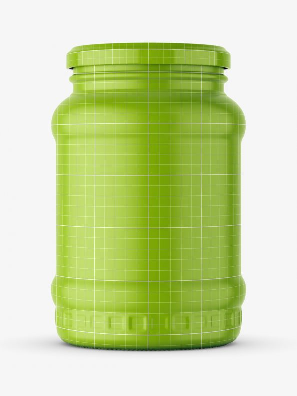 Pickle jar mockup