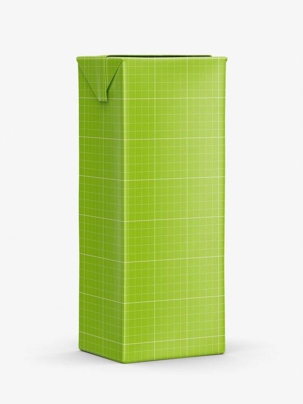 Small juice carton mockup